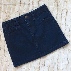 Old Navy girl's dark wash sparkly denim jean skirt